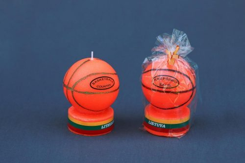 """Reprezentacinė, suvenyrinė žvakė """"Krešinio kamuolys""""."""