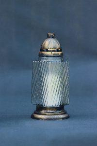 Žvakė stiklas I-200 su įdėklu 70/80/200, dega 72 val., pakuotėje 5 vnt.