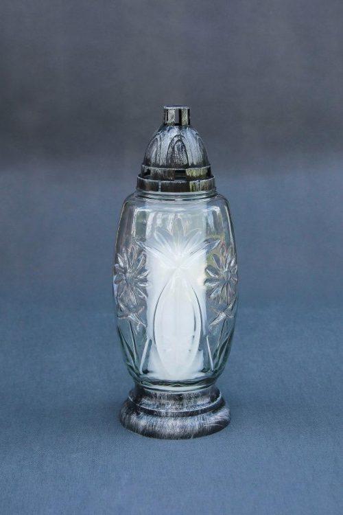 """NAUJIENA kapų žvakė """"Krištolas"""" su įdeklu 60/200, dega 48 val., pakuotėje 9 vnt."""
