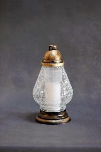 Skaldyto stiklo žvakė S-340 su įdėklu 70/80/200, dėžėje 4 vnt.