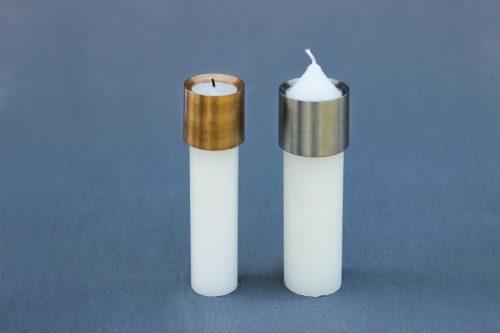 Žvakės antgalis 50 mm diametro, apsaugo cilindrines žvakes nuo varvėjimo.