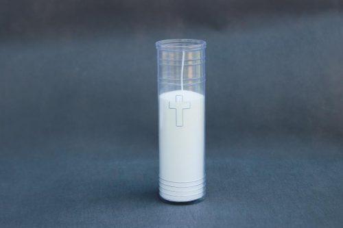 """Vėlinių / kapinių žvakė įdėklas """"Kryžius"""", dega 80 val. Tinka žvakei """"Žibintas""""."""