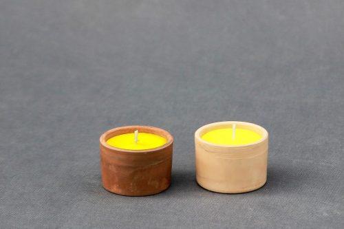 """Reprezentacinė žvakė """"Molinukas"""" su logotipu, paveikslu, piešiniu, nuotrauka, foto."""